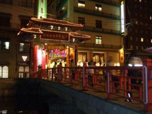 夜の長崎新地中華街