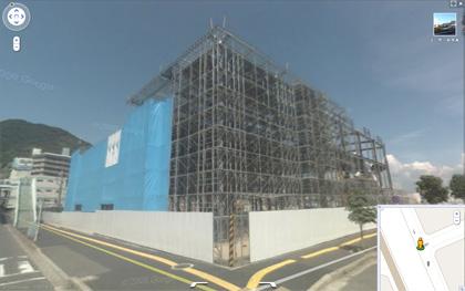 アルパーク北館建設途中