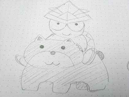 カメくんイラスト5月01