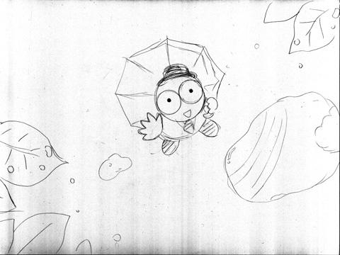 雨上がりカメくんイラスト