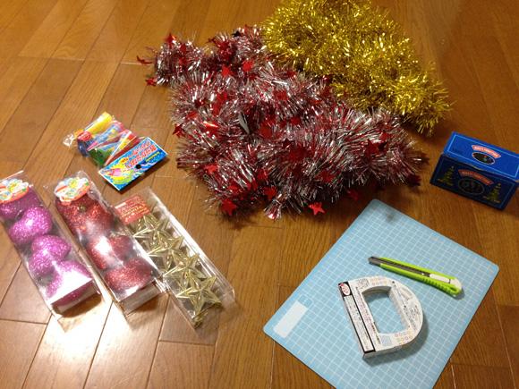 クリスマスの飾りなど