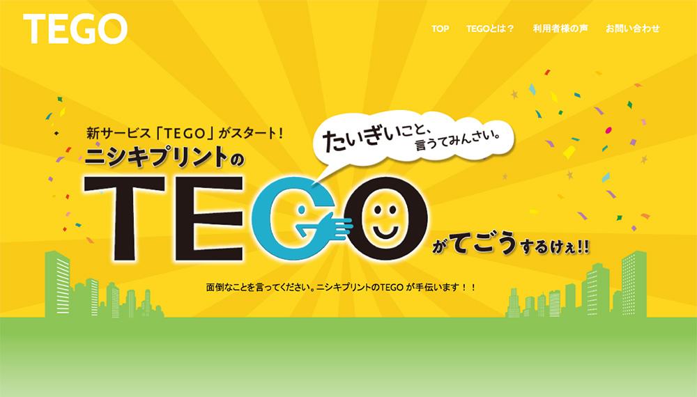 ニシキプリントTEGO(てごう)面倒なこと言ってみんさい。TEGOが手伝います。