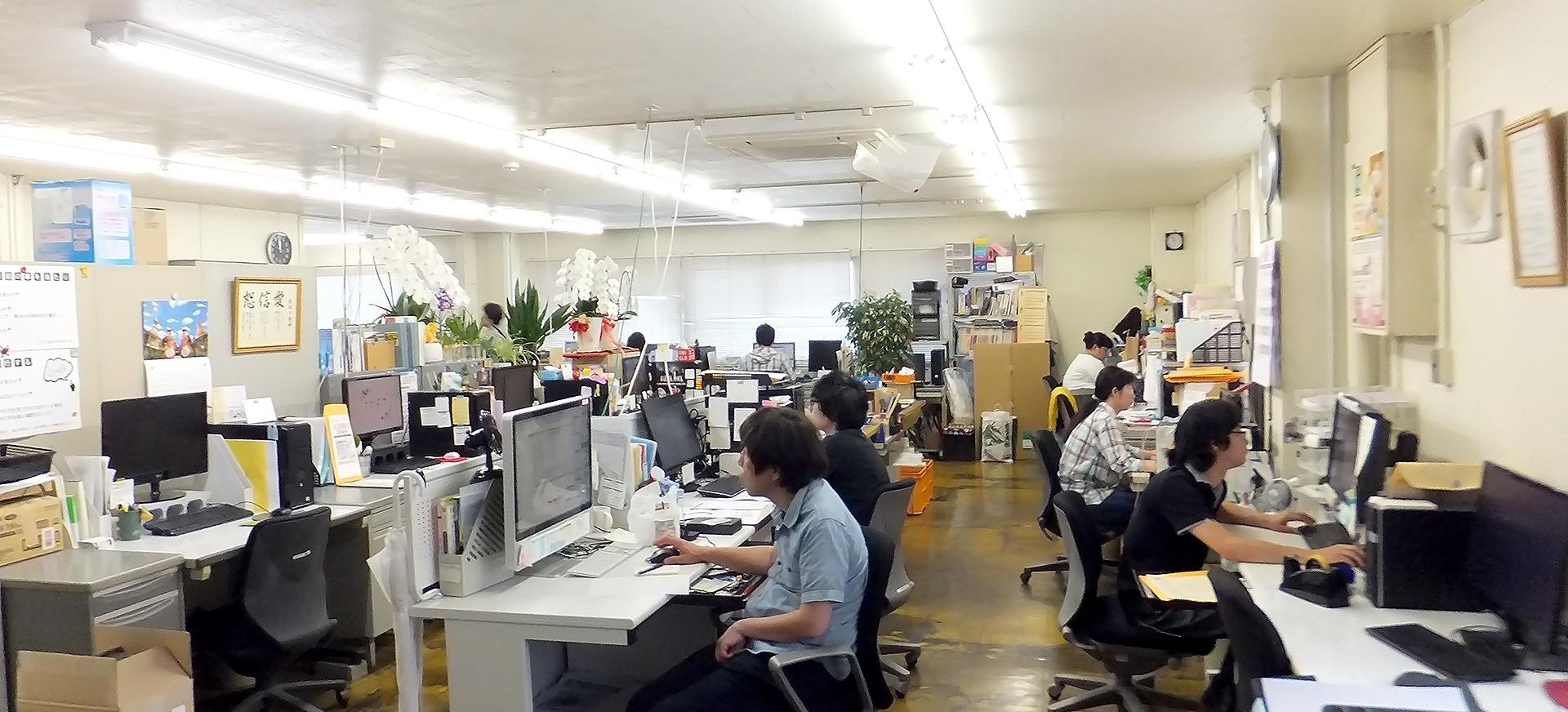ニシキプリントDTP作業風景(本社)